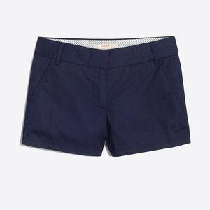 Cute J.crew chino navy blue shorts size 0 womens